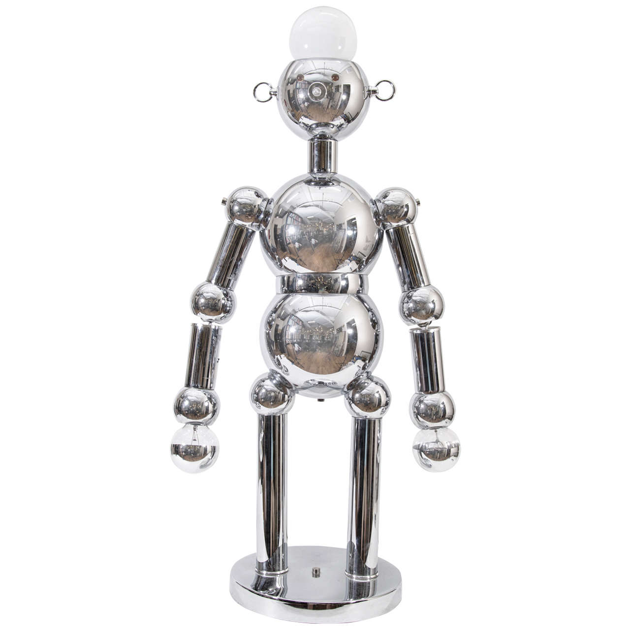 A Mid Century Chrome Torino Robot Lamp At 1stdibs