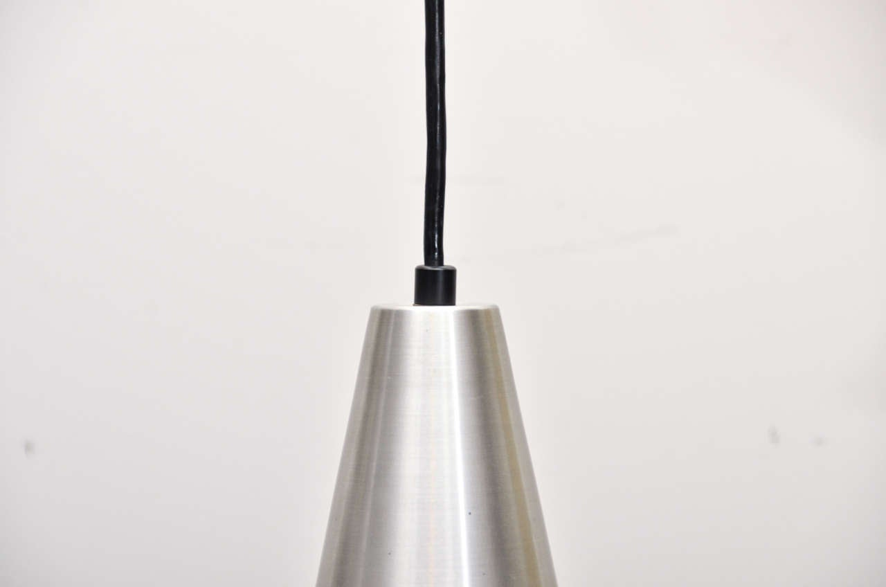 Cone Shaped Pendant Light Mid Century Cone Shaped Silver 43 Black Metal Pendant Light