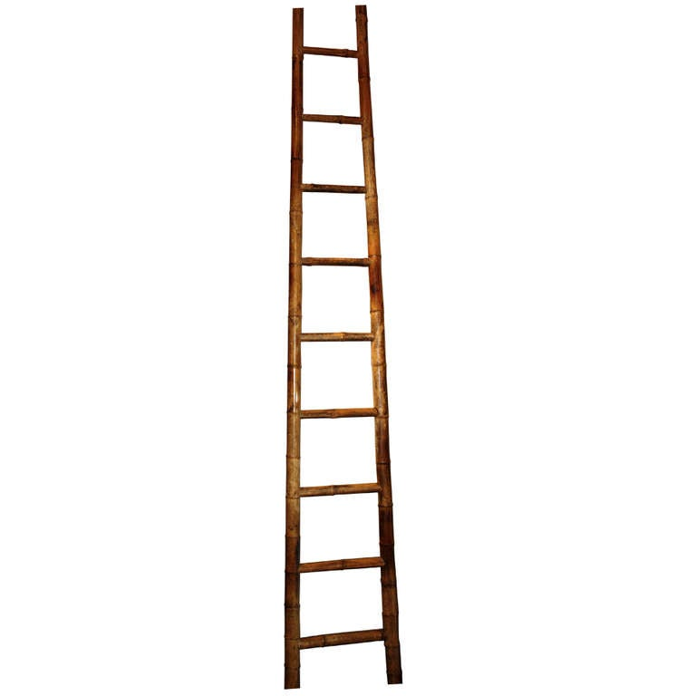 Tall 19th Century Chinese Bamboo Ladder At 1stdibs