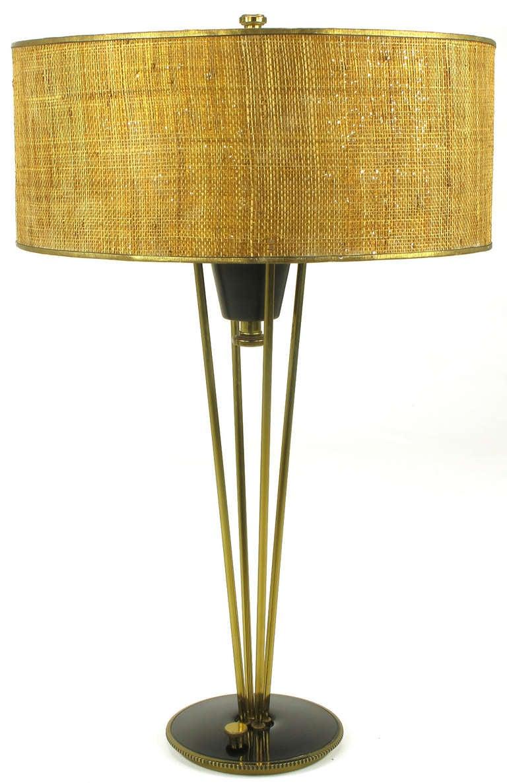 Rare 1950s Black Lacquer and Brass Suspension Stiffel