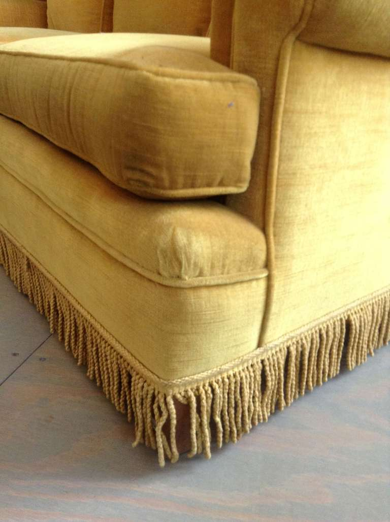 World's Best Sofas Gold Velvet Sofa With Fringe At 1stdibs