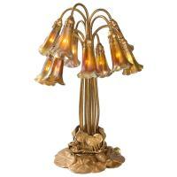Tiffany Studios Ten-Light Lily Table Lamp