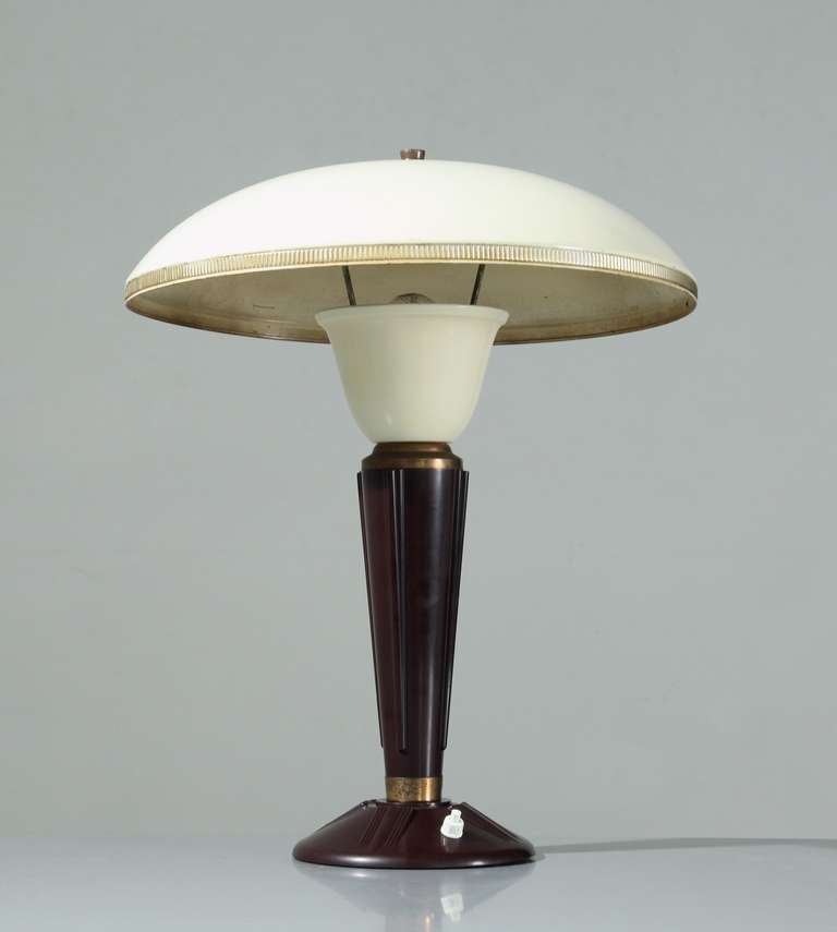 French Table Lamp With Bakelite Base 1950s At 1stdibs