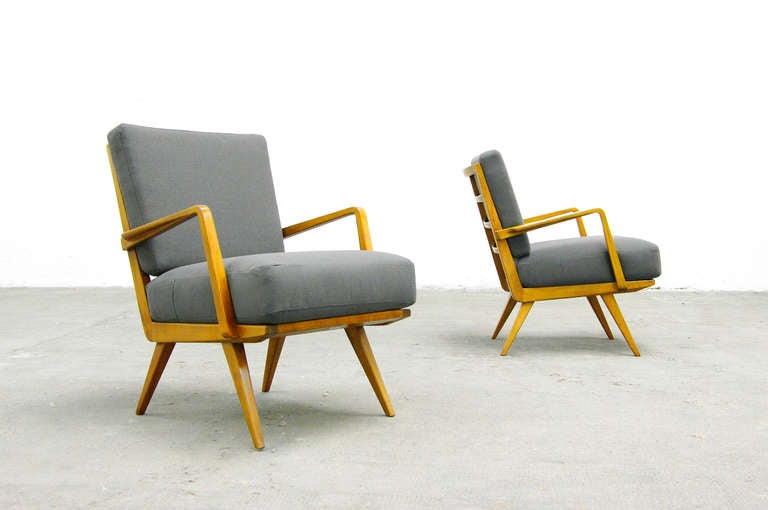 Knoll Antimott Sessel Two Easy Chairs By Wilhelm Knoll, Mid-century Modern
