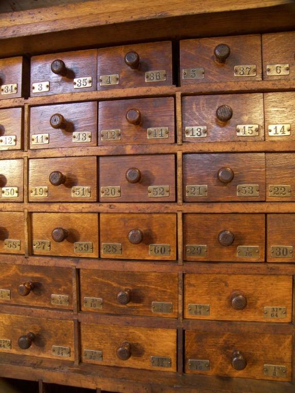 Vintage Industrial Multi Drawer Wood Storage Cabinet At
