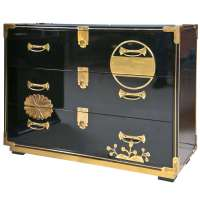1970's Mastercraft Lacquered Asian Inspired Cabinet at 1stdibs