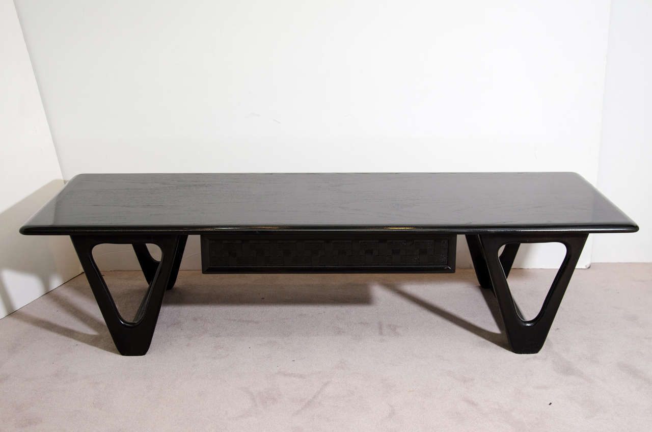 Mid Century Black Coffee Table A Mid Century Black Lacquered Lane Coffee Or Cocktail