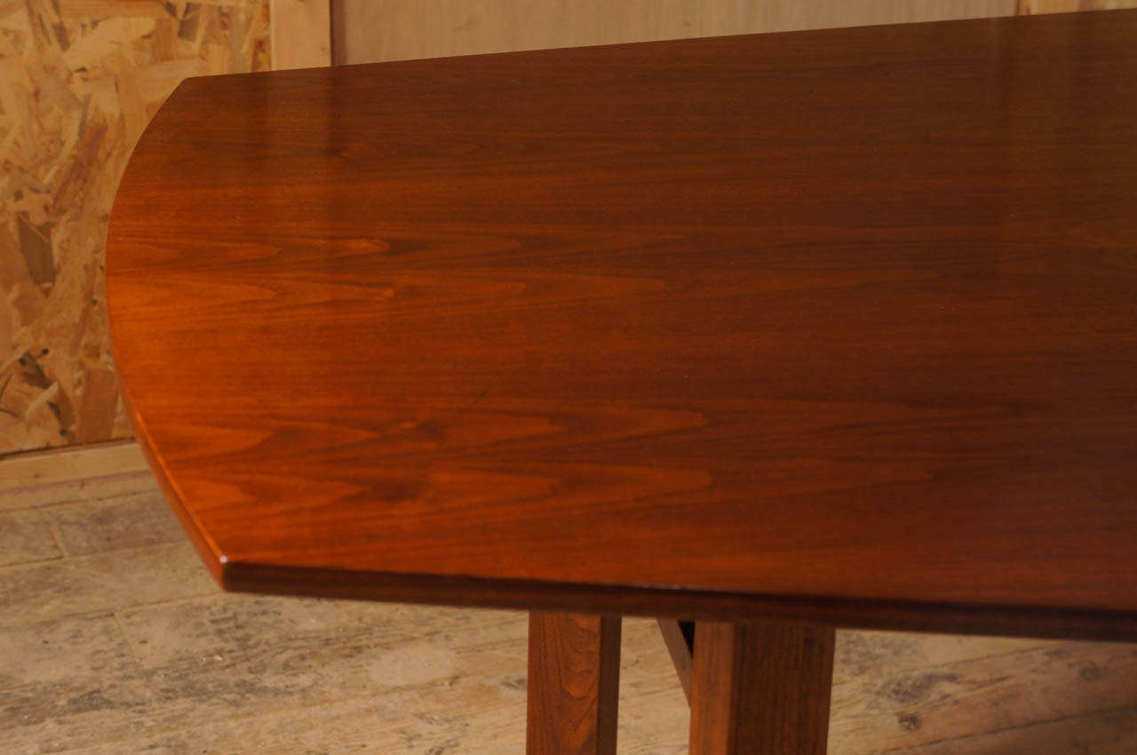 10 Foot Dining Table 10 Foot Long Walnut Dining Table Attibuted To Jens Risom