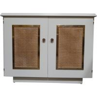 Mid-Century Lacquered Hollywood Regency Shoe Cabinet at ...
