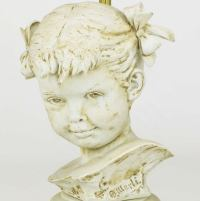 Bruno Merll For Marbro Capodimonte Child Bust Table Lamp ...