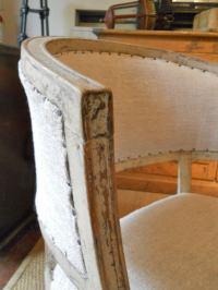 Swedish Gustavian Painted Barrel Back Chair at 1stdibs