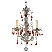 19c Red Crystal Chandelier at 1stdibs