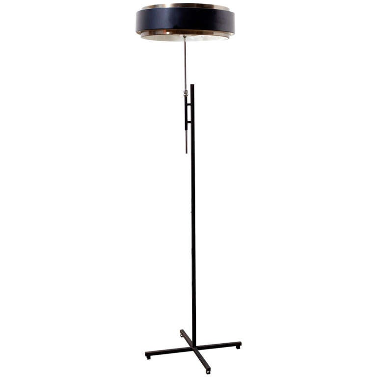 Stehlampe Schwarz Kupfer Hiemstra Black And Copper Floor Lamp At 1stdibs