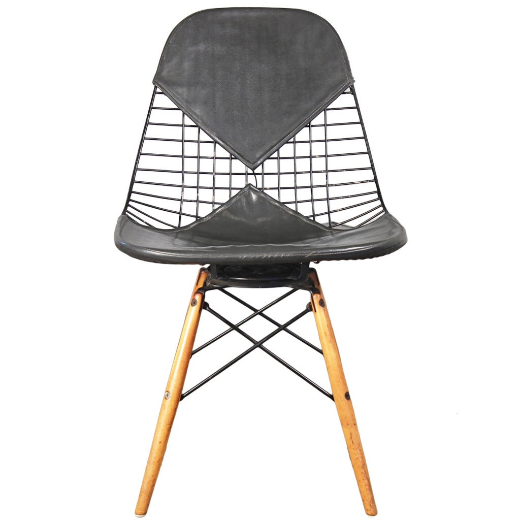 Early Eames Pkw Wire Chair For Herman Miller At 1stdibs - Eames Chair Wire