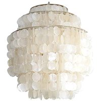 Hydromedusa #4 Capiz Shell Light by Gwen Carlton at 1stdibs