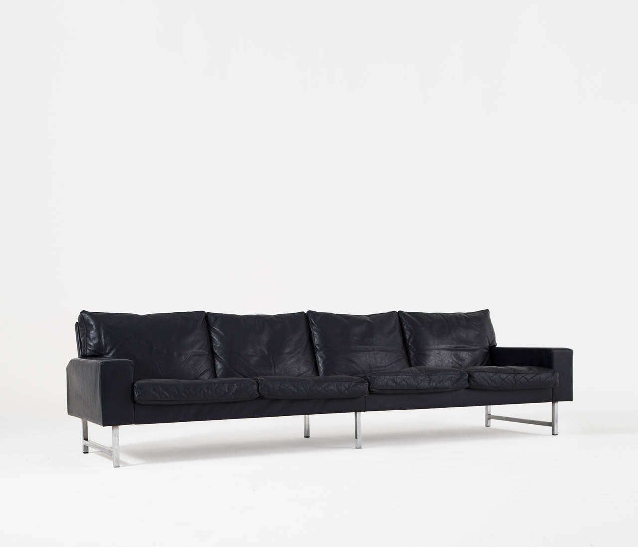 Extrem Big Sofa Extreme Long 4 Seater Sofa Upholstered In Original Night