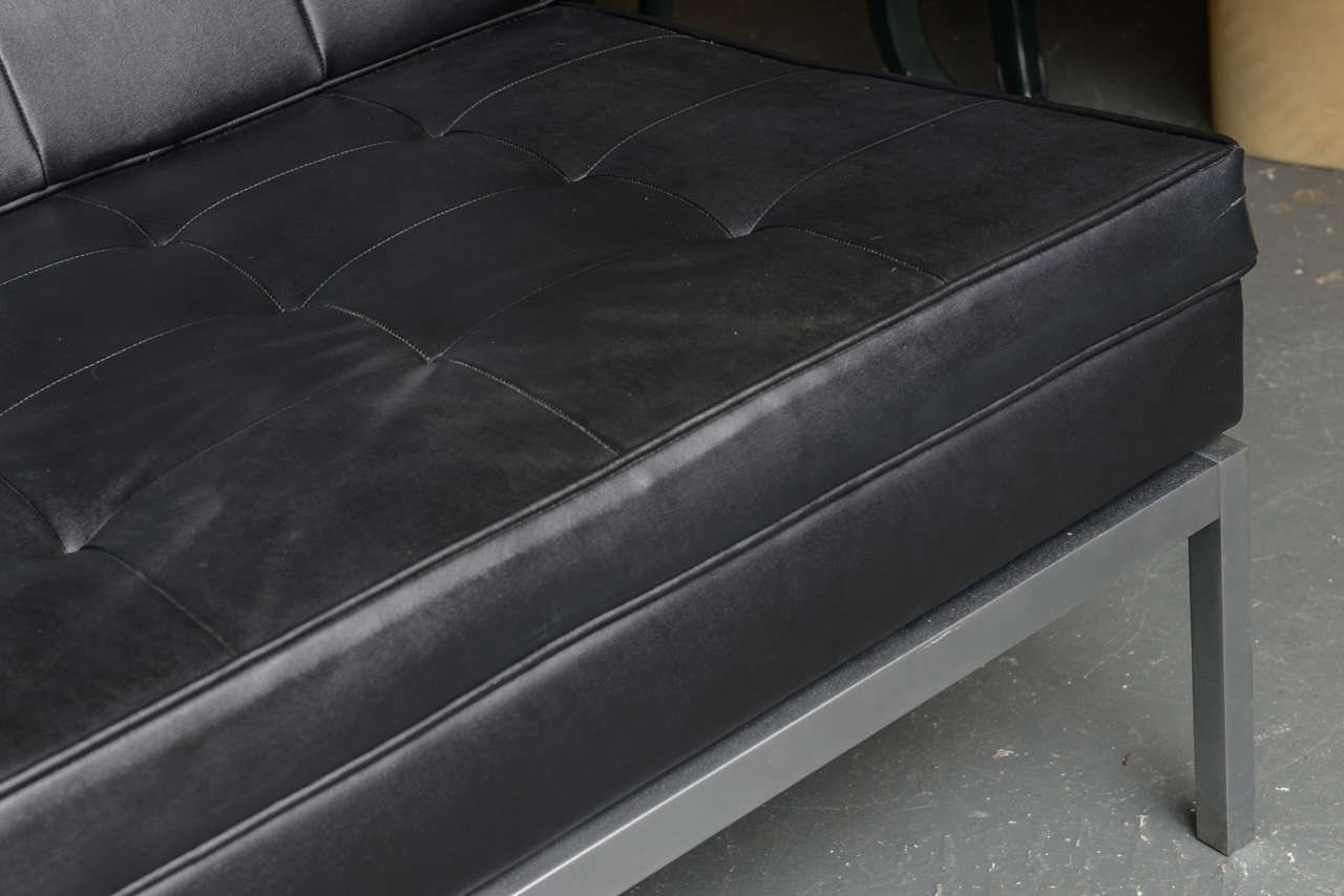 Sleek Leather Couch Sleek Black Leather Sofa At 1stdibs