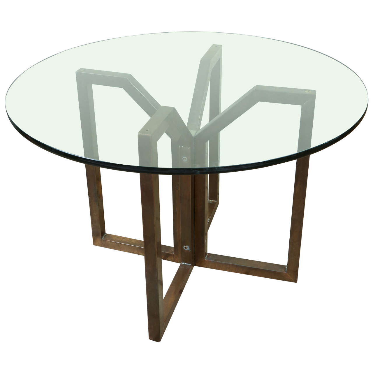 Gallery 1 Furniture Centre Geometric Bronze Finished Table At 1stdibs