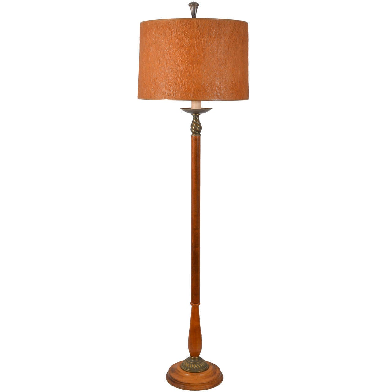 Floor Lamp Wooden Wooden Art Deco Floor Lamp At 1stdibs