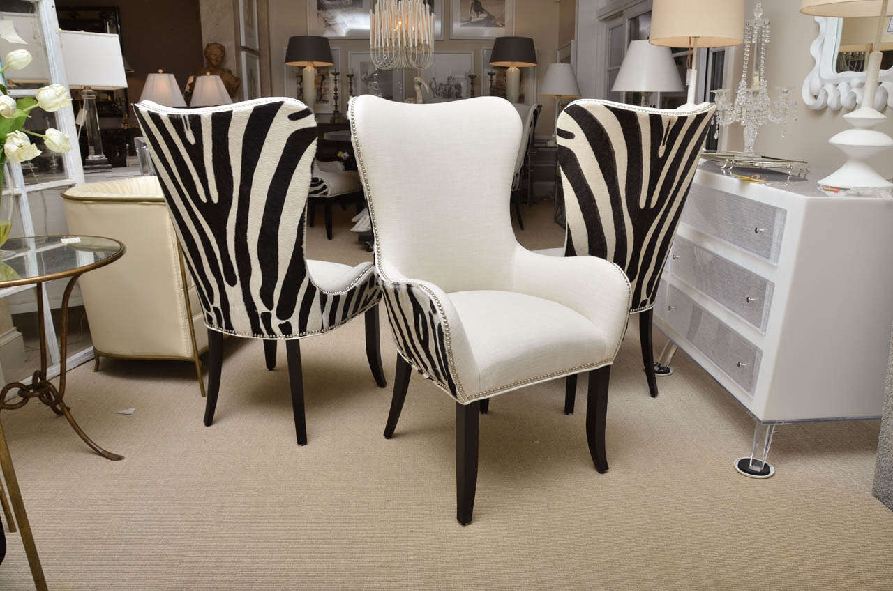 faux cowhide dining chairs