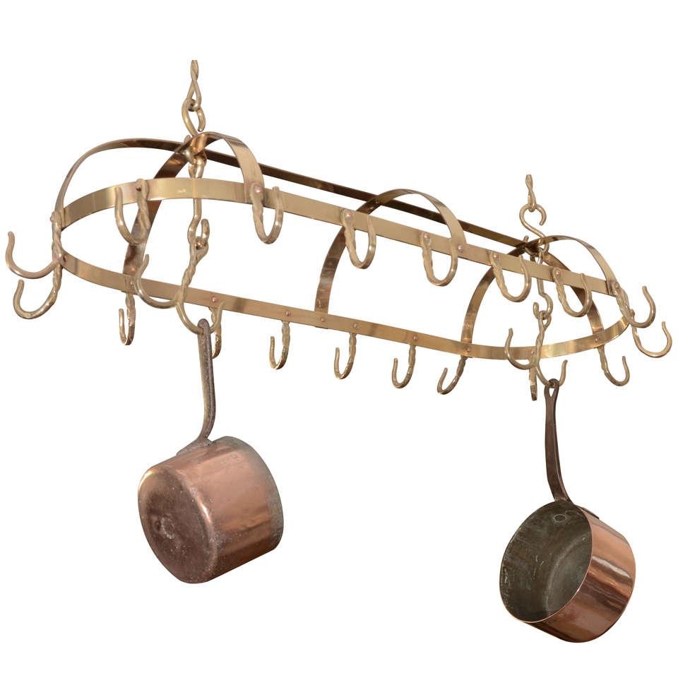 English Brass Pot Rack At 1stdibs