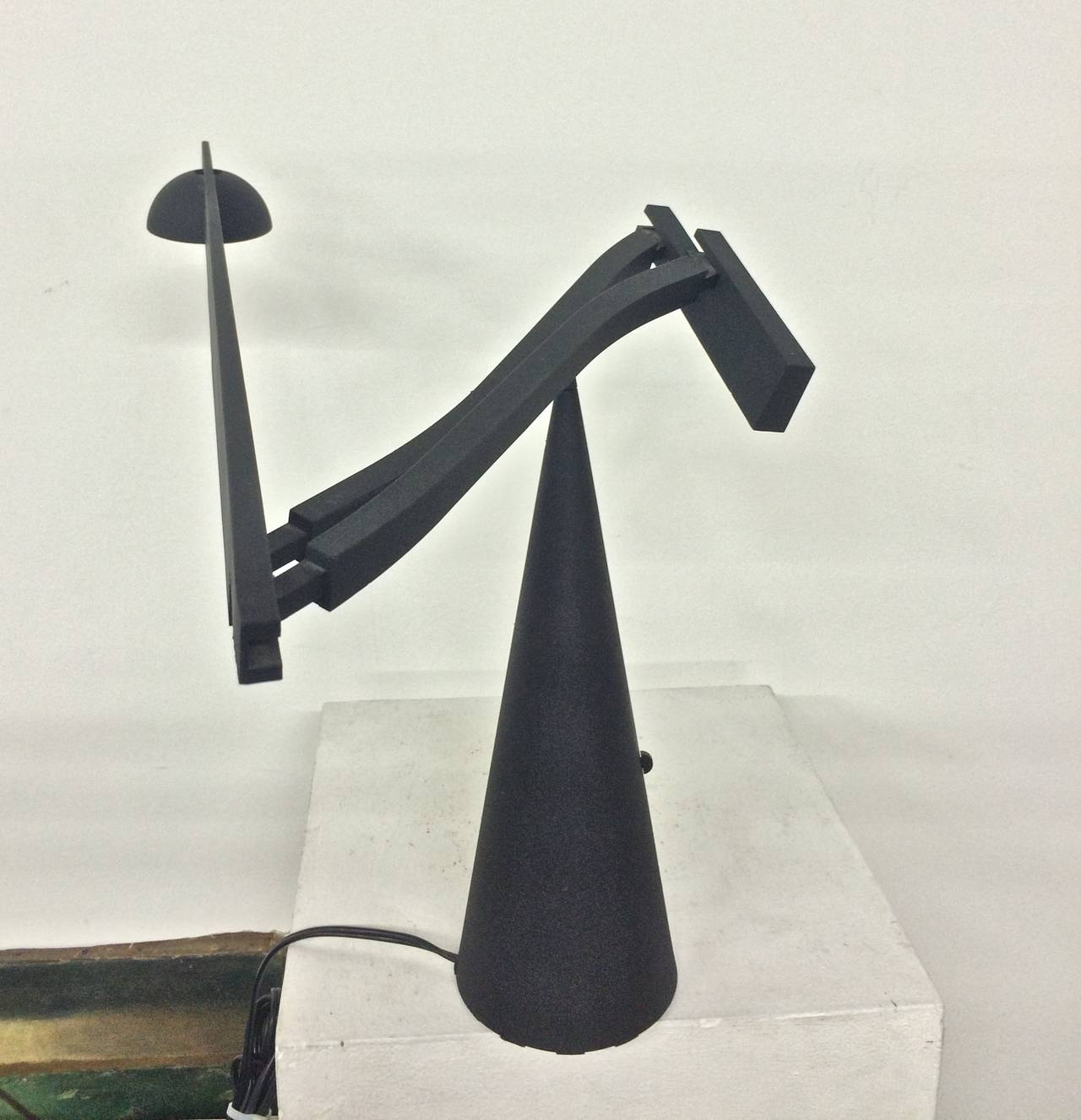 High Tech Lamp Colombo And Barbaglia Italian High Tech Table Lamp At 1stdibs