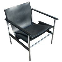Charles Pollock For Knoll Leather Sling Arm Chair at 1stdibs