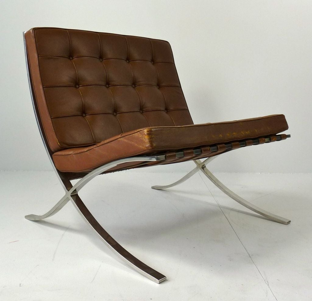 Barcelona Chair Mies Van Der Rohe For Knoll Barcelona Chair At 1stdibs