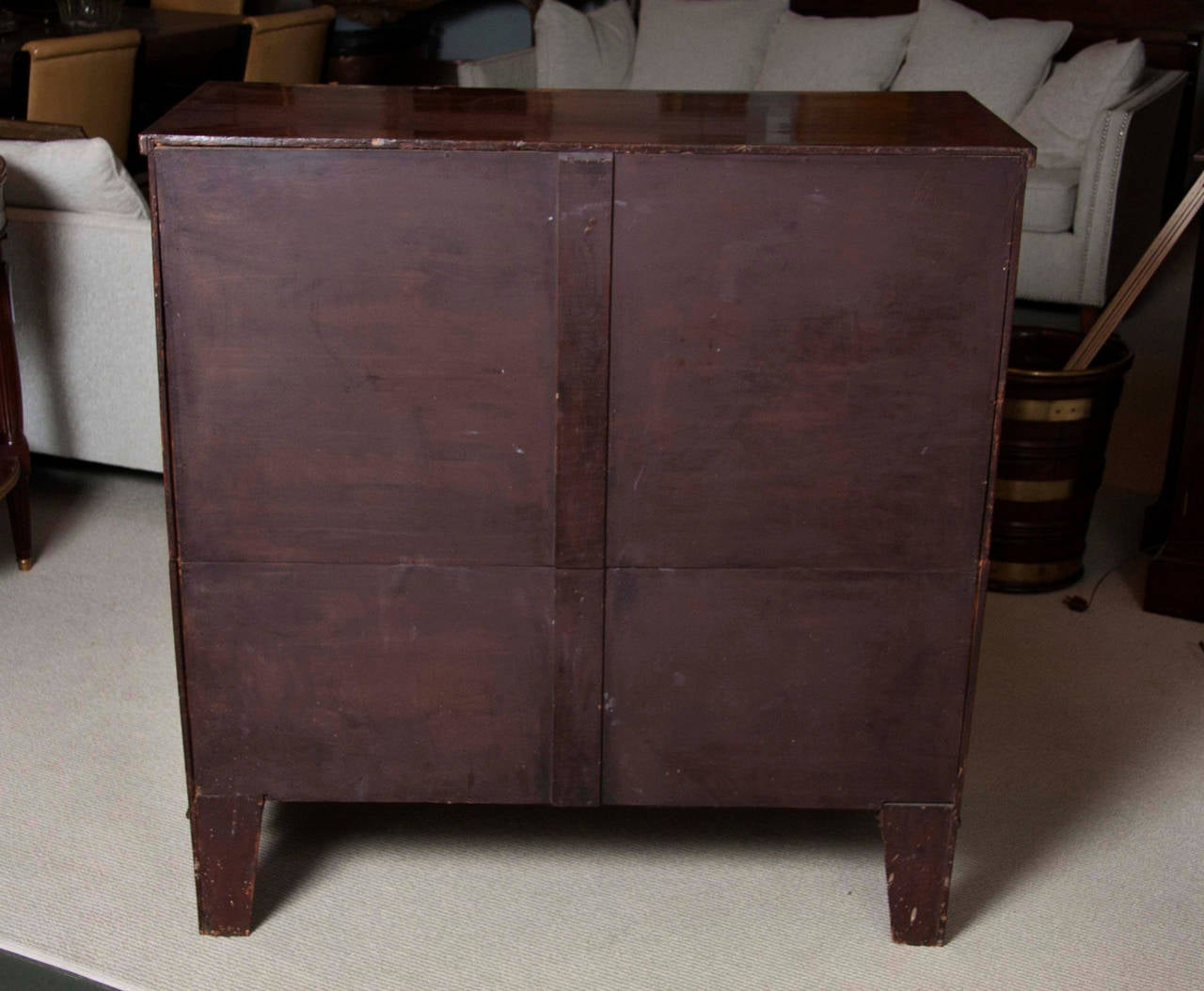 Friends Furniture Mississauga English Flame Mahogany Five Drawer Chest At 1stdibs