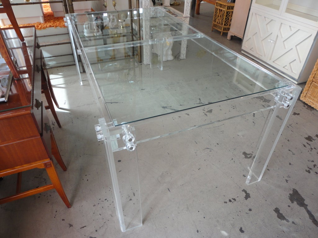 Lucite dining table at 1stdibs