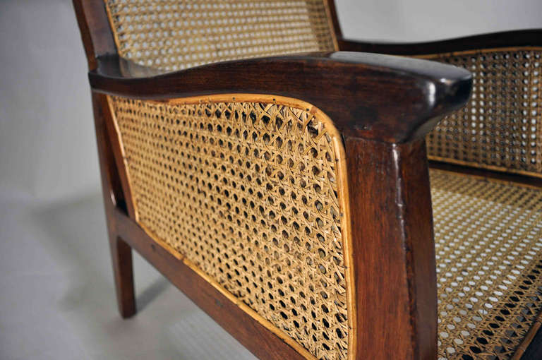 Set Of British Colonial Chairs With Rattan Seats At 1stdibs