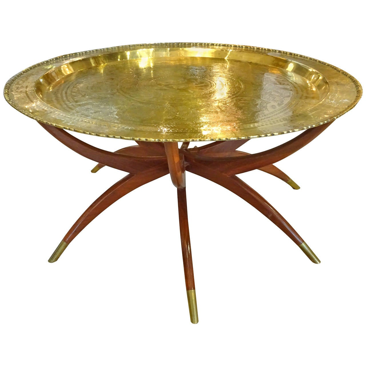 Animal Base Coffee Tables Chinese Brass Top Spider Leg Coffee Table At 1stdibs