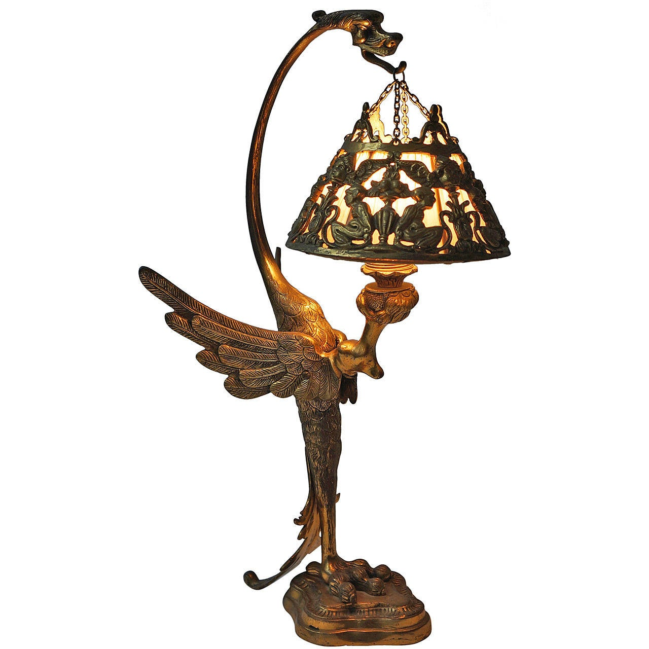 Artistic Desk Lamps French Art Nouveau Table Lamp At 1stdibs