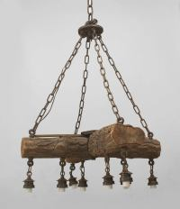 Early 20th c. American Rustic Log Chandelier at 1stdibs
