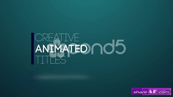 Title Animation - After Effects Template (Pond5) » free after - animation title