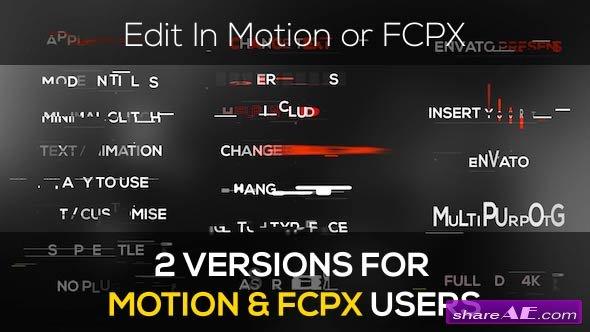 Videohive Minimal Modern Glitch Titles - Apple Motion Templates