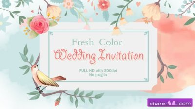 Videohive Fresh Color Wedding Invitation » free after ...