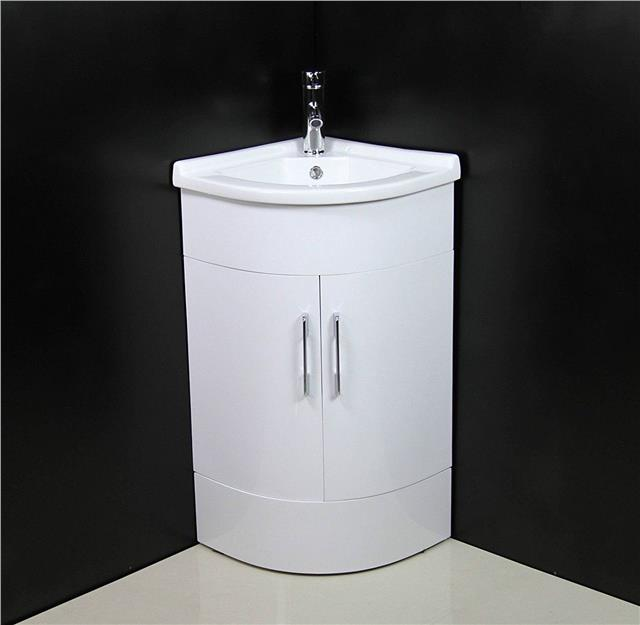 Bathroom Vanity Unit Cabinet Basin Sink Corner Cloakroom