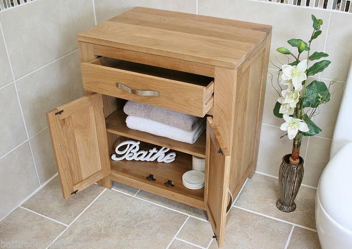 Bathroom Furniture Solid Oak Vanity Cabinet Cupboard