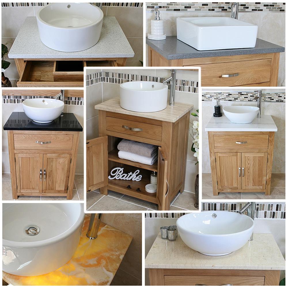 Solid Oak Bathroom Vanity Unit Oak Sink Bathroom Cabinet