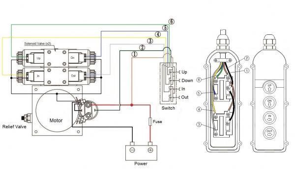 hydraulic pump wire diagram