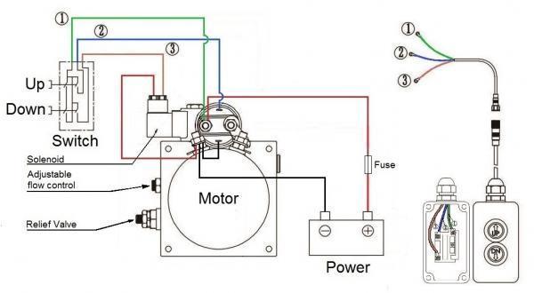 12vdc single acting tipper hydraulic powerunit 4 5l tank zz003468