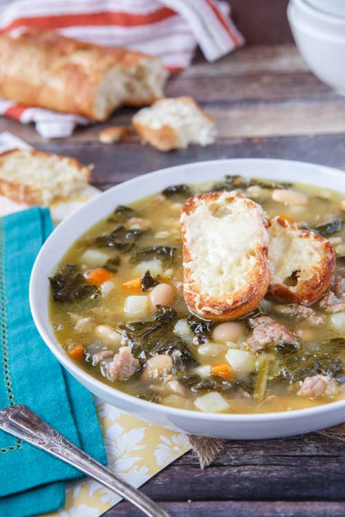 Paleo Almost Tuscan Sausage and Kale Soup