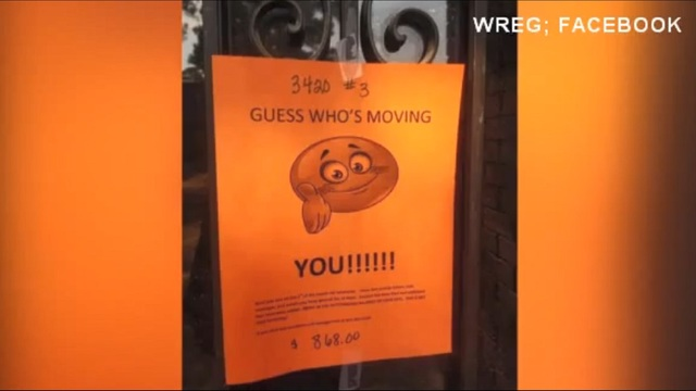Tennessee landlord\u0027s eviction notice goes viral - how to make a eviction notice