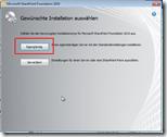 Sharpoint Foundation und Windows 7 - Start der Installation