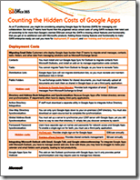 Microsoft Whitepaper - Counting the Hidden Cost of Google Apps