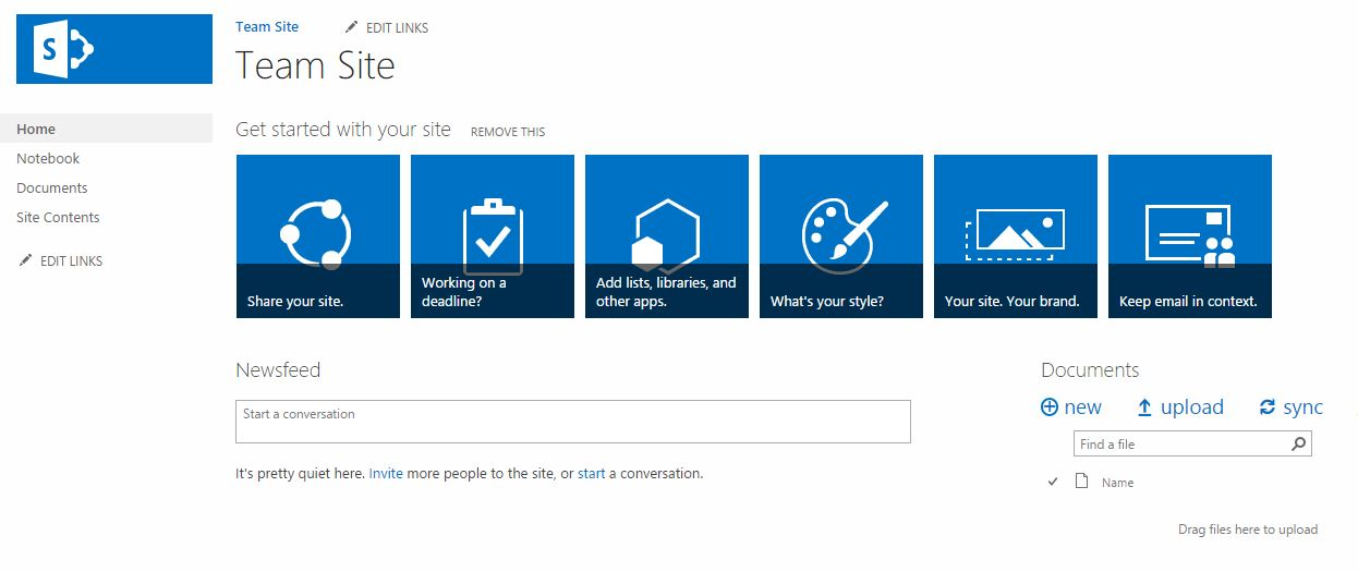 How to create SharePoint Project Site