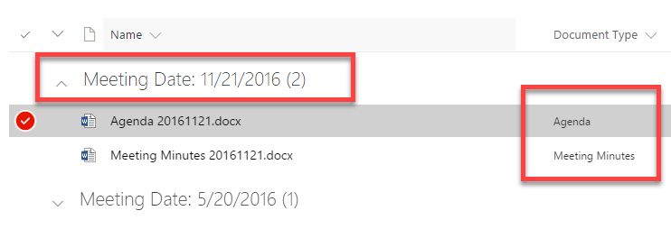4 ways to organize project meeting documents in SharePoint - collaboration meeting agenda