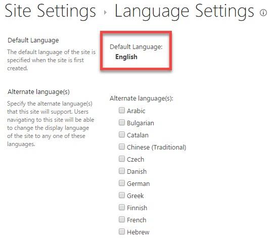 How to adjust SharePoint language settings - SharePoint Maven