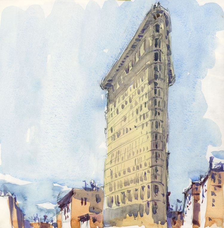 New York (State and City) sketches The Sketchbook